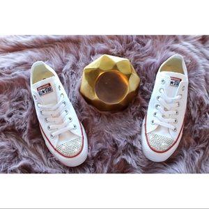 ⚡️Custom Bling Converse (White)⚡️